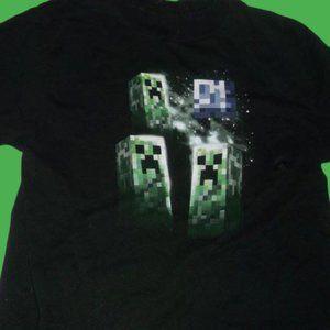 Mojang Minecraft BlackT-Shirt Boy XL